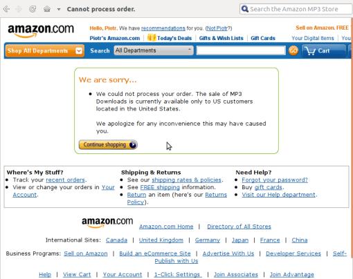 Amazon -- outside US